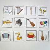 Naučné kartičky - Hudební nástroje