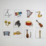 Mini kartičky - Hudební nástroje