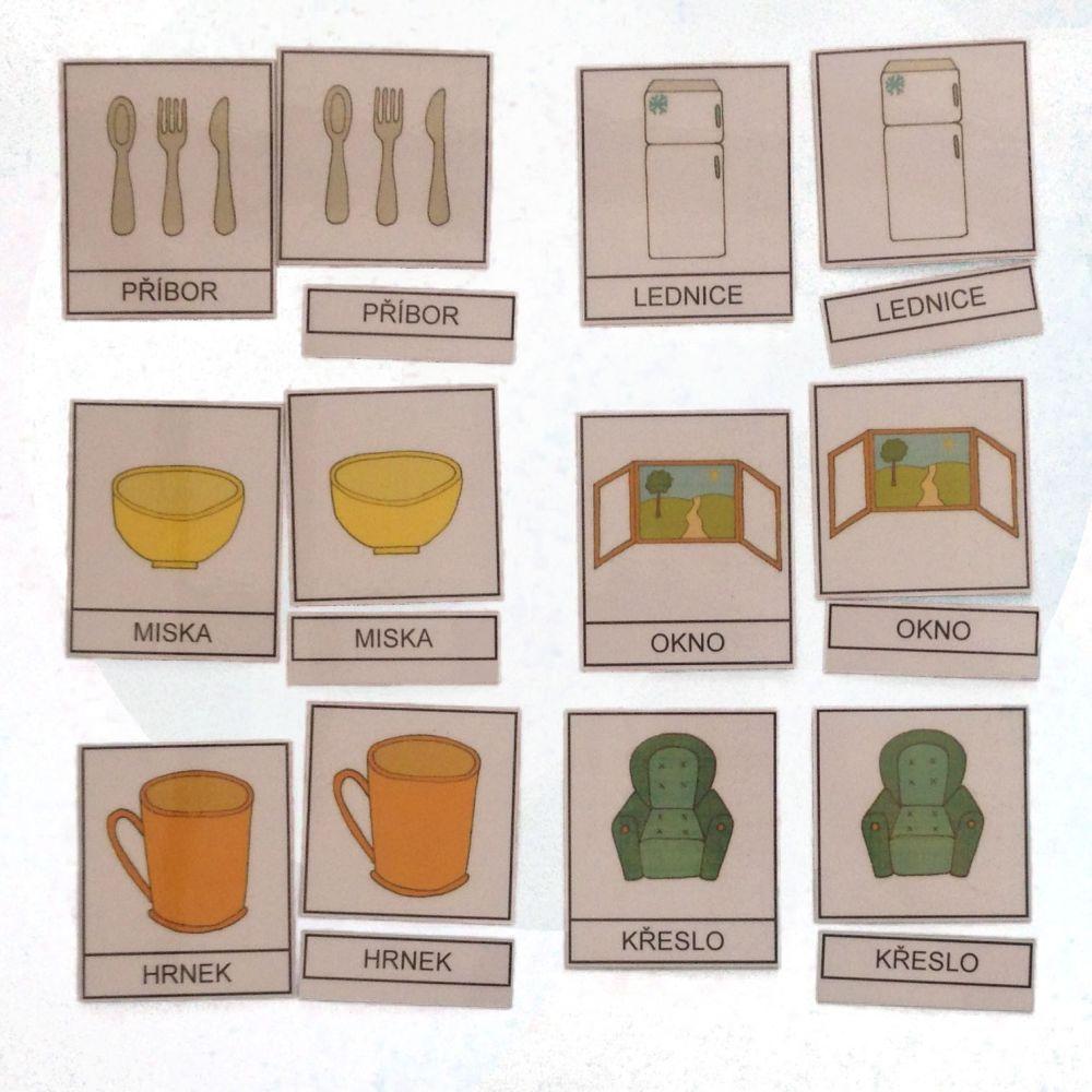 Třísložkové karty - Věci v domě
