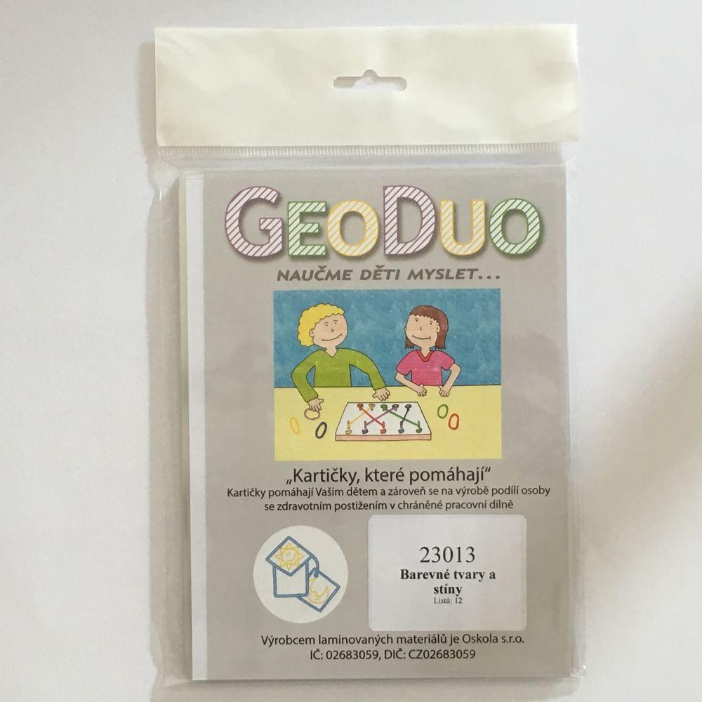 Barevné tvary a stíny - předloha GeoDuo