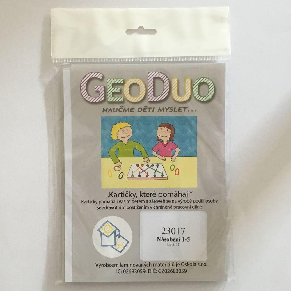Násobení 1-5 - Předloha GeoDuo